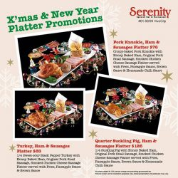 [Serenity Spanish Restaurant] Check out our Festive Season Promotion specially crafted for you, our beloved customers!