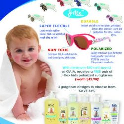 [10 10 Mother & Child Essentials] Exclusively at 1010 Mother & Child, shop for the GAIA Natural Baby range!
