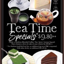 [Hoshino Coffee Singapore] Let's try New Dessert Set Promotion with Drink+Cake @$9.