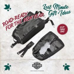 [Harley-Davidson] Roadtrip in style this season with these baggages full of your Christmas packages.