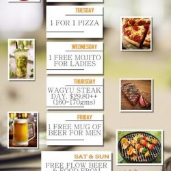 [MYRA'S @ The Stadium] Check out our weekday deals!