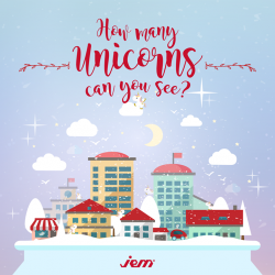 [Jem] Unicorns are joining reindeers this holiday season at JEM!