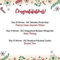 [Mothercare] Congratulations to our Day 10 to 12 winners of 12daysofChristmas sharethegift promo!