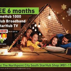 [StarHub Telestation] New StarHub Shop Opening Specials ending on 31 Dec 2017:-Only at Northpoint City South B1-118FREE 6 months