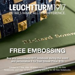 [Beauty By Nature] Come and get your free personalization (UP:$15) for every Leuchtturm1917 notebooks and journals that you purchased.