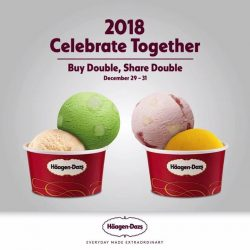 [Haagen-Dazs] Celebrate 2018 together with sweet, sweet ice-cream because we're offering a Buy 1 Share 1 Double Scoop Ice