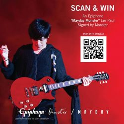"[Swee Lee Music] Taiwanese rock band 五月天 Mayday is in town this weekend and and we're giving away an Epiphone ""Mayday Monster"" Les"