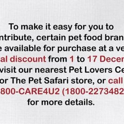 [Pet Lovers Centre Singapore] This year is the 10th anniversary of the Pet Food Drive campaign, which has helped ensure our furry, four-legged