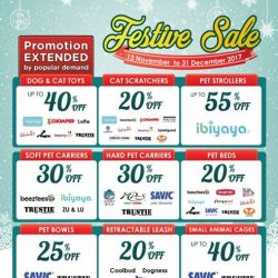 [Pet Lovers Centre Singapore] Due to popular demand, we've decided to extend our Festive Sale till the 31st of December!