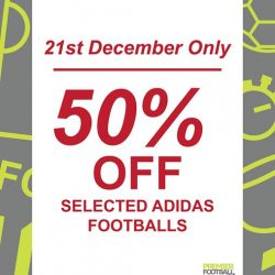 [Premier Football Singapore] 50% OFF selected adidas footballs!