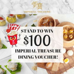 [Golden Village] Stand a chance to WIN $100 @imperial treasure dining voucher when you watch a movie at GV Grand!