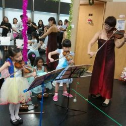 [The Ballet & Music Company] Christmas 🎄 mini concert by the piano and violin students 🎶 of our wonderful teacher Tchynar.