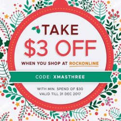 [ROCK GIFTS AND BOOK CENTRE] Take $3 off when you checkout at rockonline.