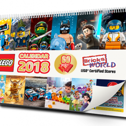 [Bricks World (LEGO Exclusive)] LEGO® Certified Store (Bricks World) Exclusive 2018 CalendarLaunch into your year ahead with the exclusive LEGO® Certified Store (Bricks