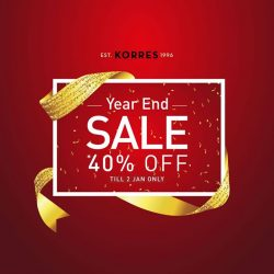 [KORRES] Enjoy Korres Year End Sale with *40% discount!