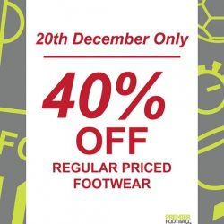 [Premier Football Singapore] 40% off regular priced footwear!