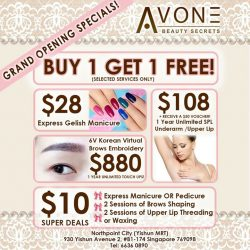[AVONE BEAUTY SECRETS] Pop by to our latest baby of Avone at NorthPoint City Yishun Tel.