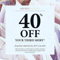 "[Meiko Tailor] Promotion only valid at Marina Square 02-34/35 and Pan Pacific Singapore 02-01"" branches"