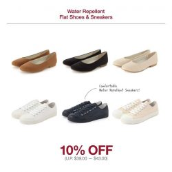 [MUJI to GO] Keep your shoes looking fresh on longer journeys with water repellent flats and sneakers!