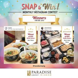 [Paradise Group] Winners for our November Snap & Win contest are out!