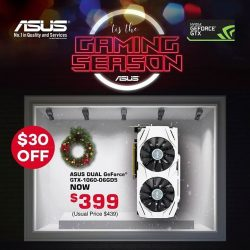 [ASUS] This X'mas season, equip your rig with the perfect gift - ASUS Dual GeForce GTX 1060 6GB.