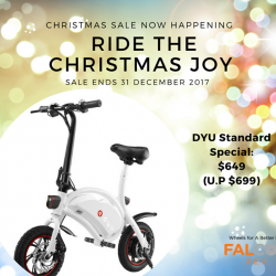 [Falcon PEV] Ride in a different style this Christmas!