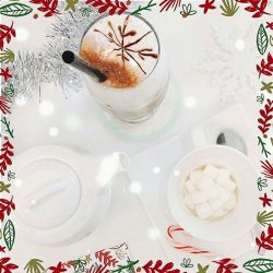 [Dazzling Cafe] It feels like winter in here with our Dazzling Iced Chocolate Peppermint with Cherry & Dazzling Hot Chocolate Tea!