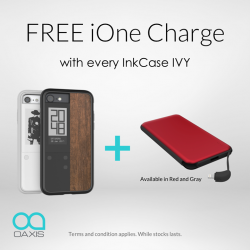 [iStudio] FREE iOne Charge 10,000mAh Power Bank worth S$69 with every purchase of Oaxis InkCase or InkCase IVY at