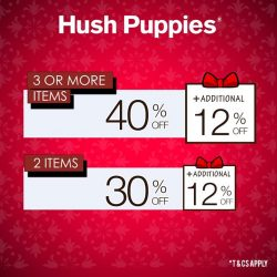 [Hush Puppies Outlet / Antton & Co. Outlet] Sweet December Surprise!