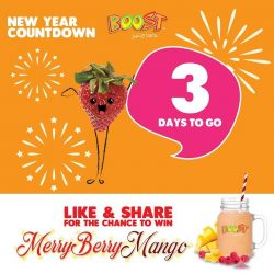 [Boost Juice Bars Singapore] 2018 IS COMING CLOSER!