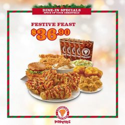 [Popeyes Louisiana Kitchen Singapore] For those who prefer to celebrate Christmas out of your homes, we've got your back!