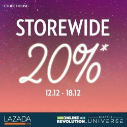 [Lazada Singapore] Don't miss out on Etude House's storewide discount this Online Revolution!