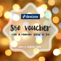 [Denizen Singapore] Receive $50 vouchers when you spend a minimum of $50 at our stores!