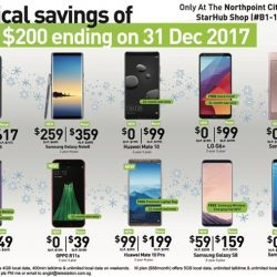 [StarHub Telestation] New StarHub Shop Opening Specials ending on 31 Dec 2017:-Only at Northpoint City South B1-118Non-CIS Offer