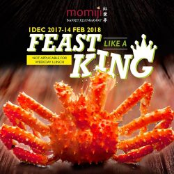[Momiji Japanese Buffet Restaurant] Known for its sweet flavour and succulent tender texture, our beloved King Crab is back!