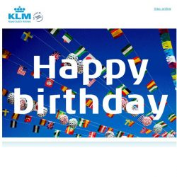[KLM] Happy birthday from all of us here at KLM!