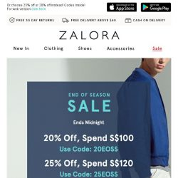 [Zalora] Happy New Year! 🎉 EXTRA 35% off ends today!