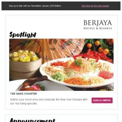 [Berjaya Hotels & Resorts EDm] A New Beginning to a New Year!
