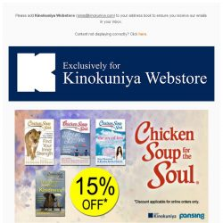 [Books Kinokuniya] At 15% discount exclusively for Webstore purchases, Chicken Soup for the New Year and the Best of Local Cookbooks for a bountiful New Year 🎊