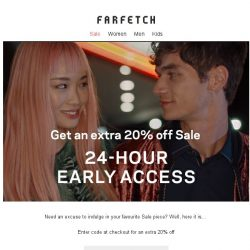[Farfetch] Extra 20% off Sale Bargainqueen | 24-hour early access