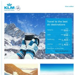 [KLM] ❄️ Travel to the best ski destinations ❄