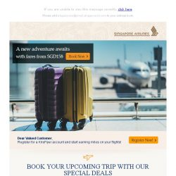 [Singapore Airlines] A new adventure awaits with great fares from SGD158