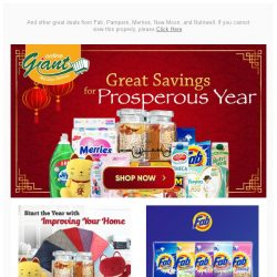 [Giant] 👌 Start the Year with Prosperous 💰 Deals on Daily Essentials. 👉 Check it out now!