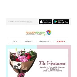 [Floweradvisor] RELOVELUTION: Pour Her With Spontaneous Gifts and Be The Perfect Lover Today!