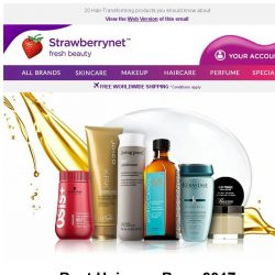 [StrawberryNet] Best Haircare Buys 2017: Top 5 Bestselling Shampoos, Treatments & more!