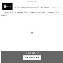 [Harrods] 10% Off* Your New Wardrobe – Starts Today