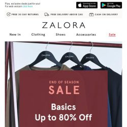 [Zalora] The Daily Grind: Up to 80% off essentials to own