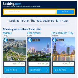 [Booking.com] Macau, Shenzhen, or Ho Chi Minh City? Get great deals, wherever you want to go