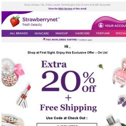 [StrawberryNet] , Last Day to Grab Extra 20% Off + Free Shipping!