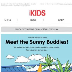 [Cotton On] The Sunny Buddies Are Here!  Meet Our Newest Friends...